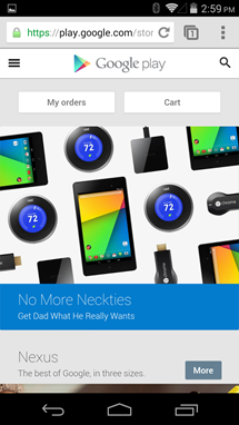 Google Play Store sekarang memiliki versi mobile web